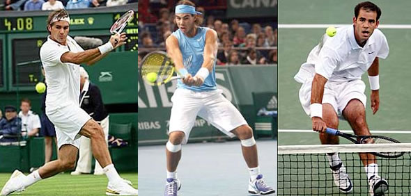 It is rare to see the likes of Federer, Nadal, and Sampras react angrily when things go wrong.